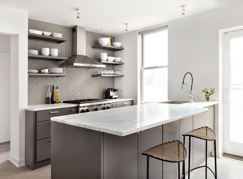 Стильные идеи дизайна интерьера кухни - классический стиль