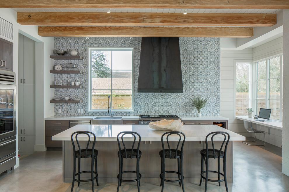 Стильные идеи дизайна интерьера кухни - необычные обои