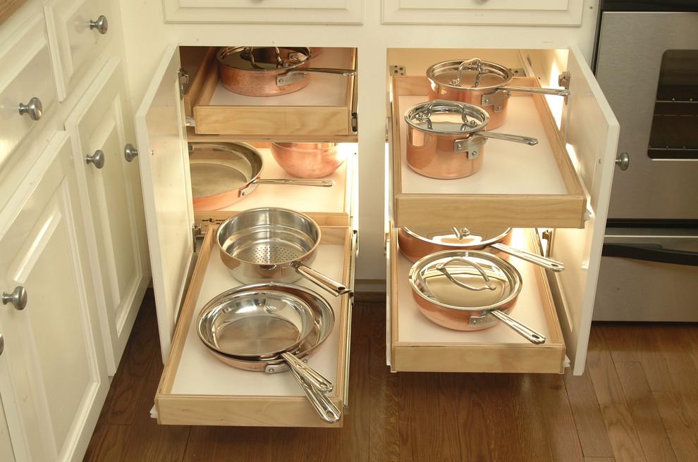 Идеи хранения на кухне - полки для хранения кухонной утвари