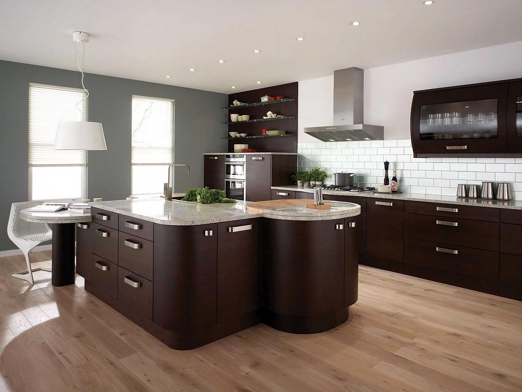 Оригинальный дизайн интерьера современной кухни