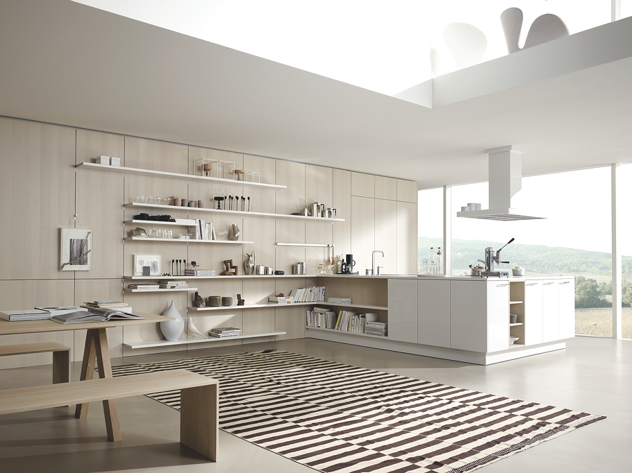 Современный дизайн кухни SE 5005 от SieMatic в белой гамме