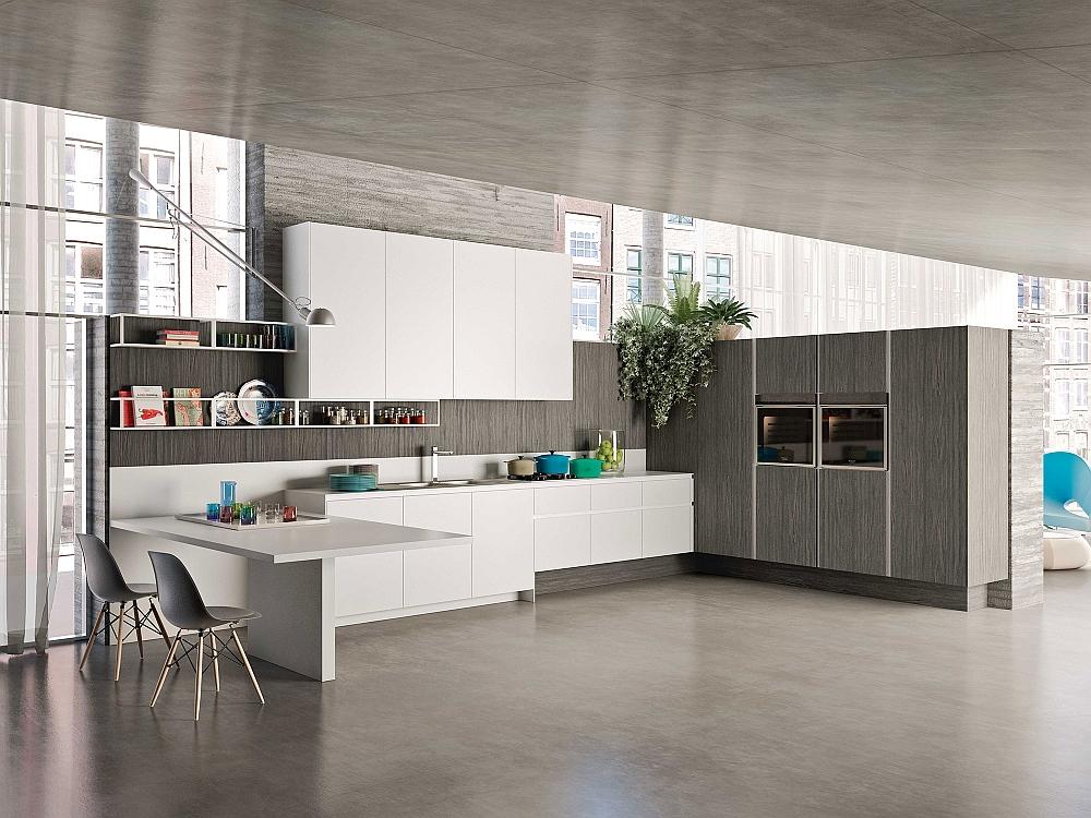 Потрясающий дизайн модульной кухни от Snaidero в стиле минимализм