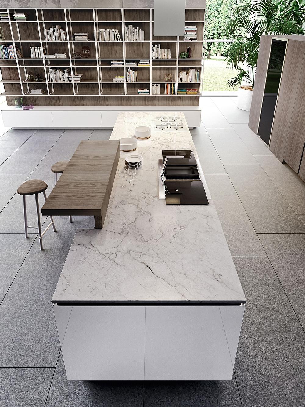 Потрясающий дизайн модульной кухни от Snaidero в стиле минимализма