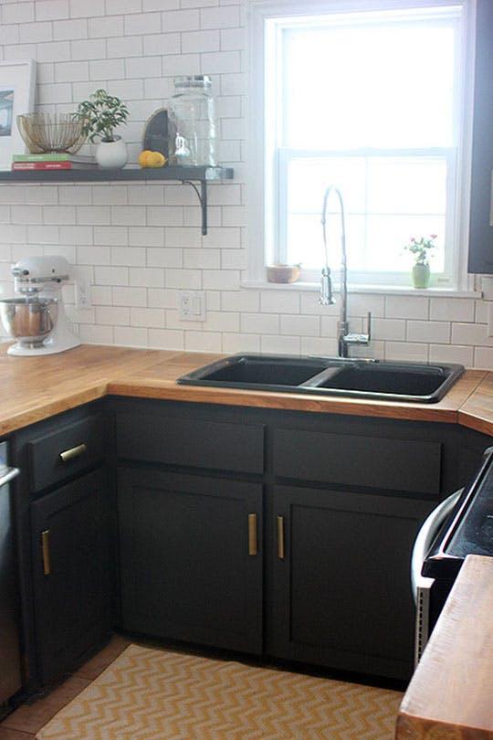 Малобюджетный ремонт маленькой кухни