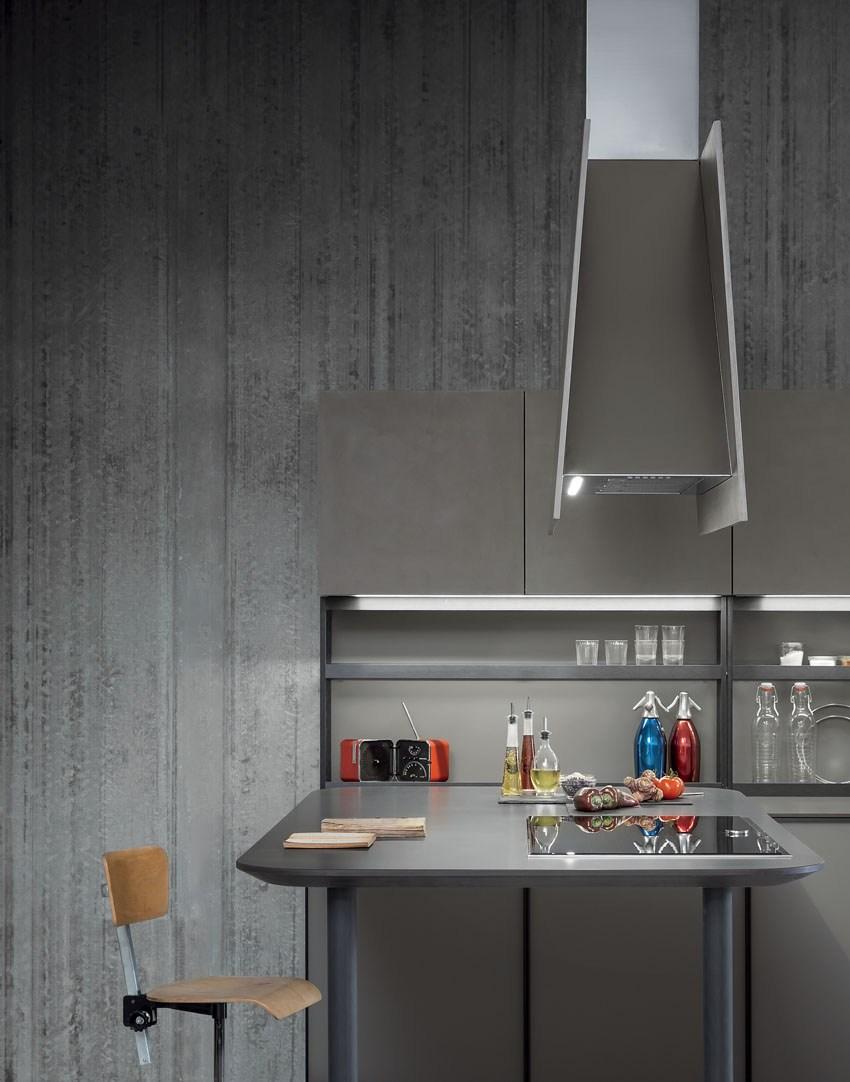 Мебель для кухни в минималистском стиле от дизайнера Стефано Каваццана - кухонный полуостров