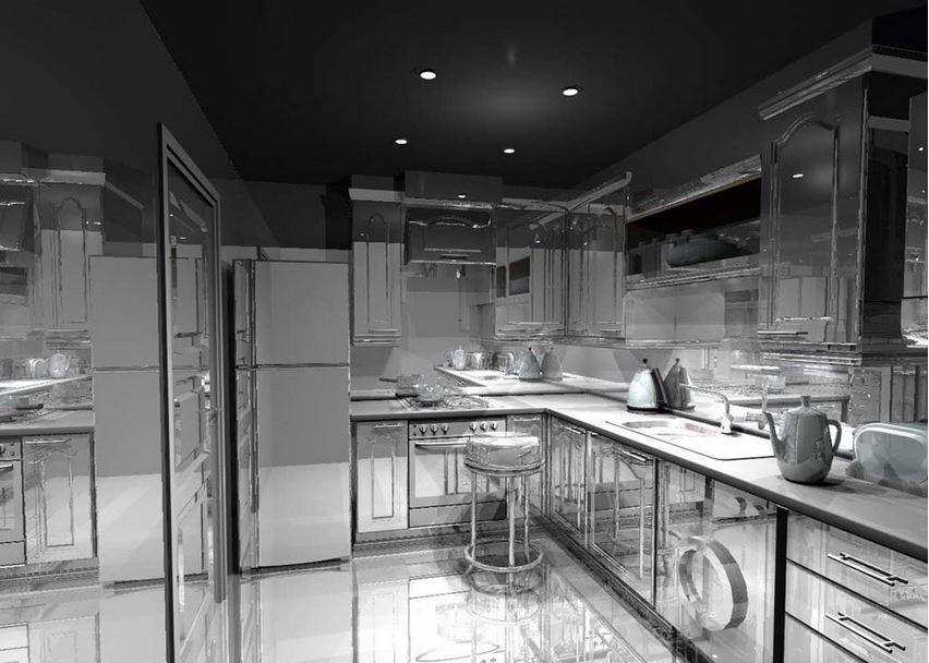 Металл в современном дизайне кухни