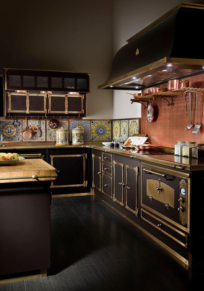 Металлические аксессуары для кухни: оригинальная отделка кухонных шкафчиков