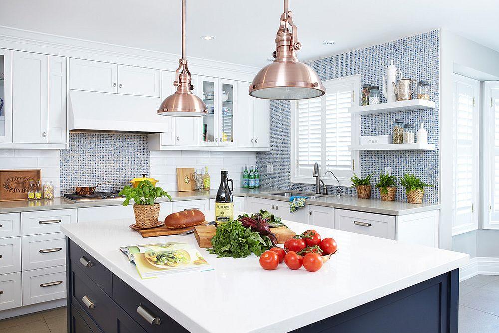 Металлические аксессуары для кухни: светильники в индустриальном стиле