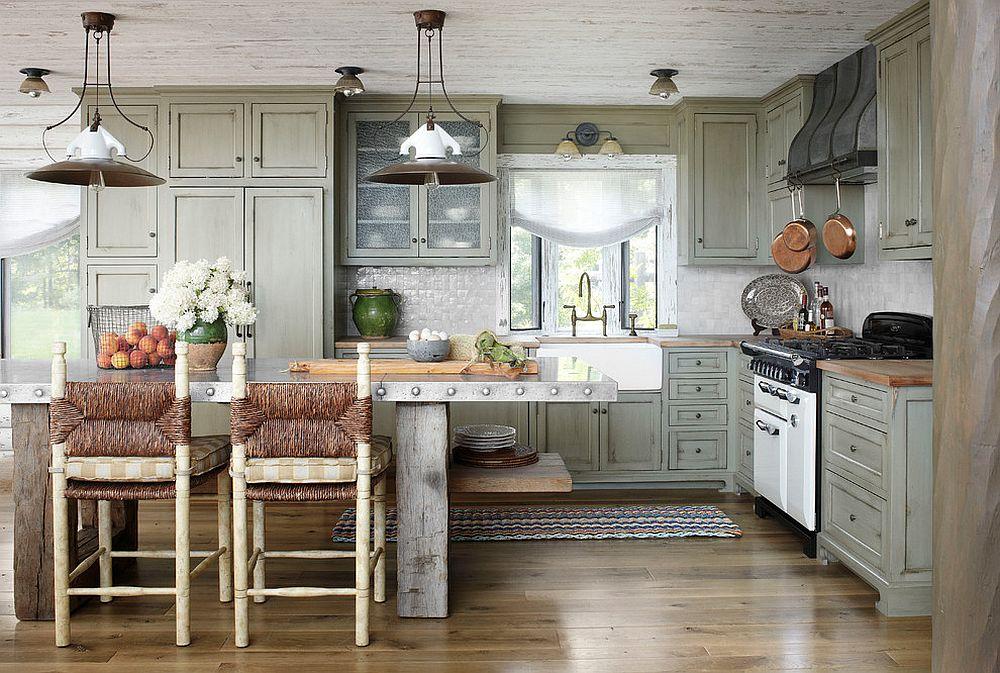 Металлические аксессуары для кухни: кухонный остров из нержавеющей стали