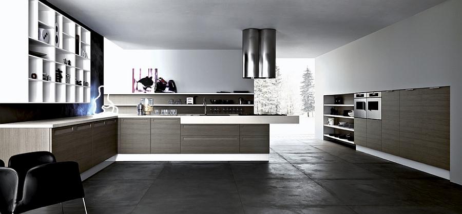 Элегантный дизайн интерьера белоснежной кухни в скандинавском стиле