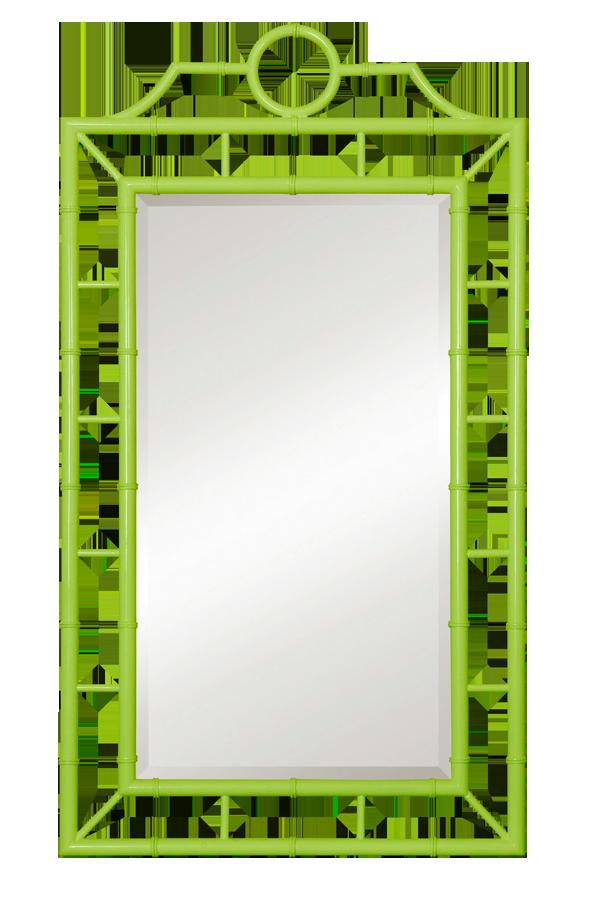 Прямоугольное зеркало Chloe в яркой зелёной раме от Zhush LLC