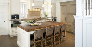 Дизайн кухонной столешницы из натурального дерева от LDa Architecture & Interiors