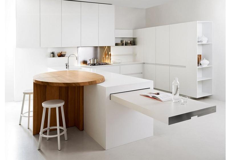 Дизайн кухни в  стиле минимализм из коллекции Slim Kitchen от Elmar (Италия)