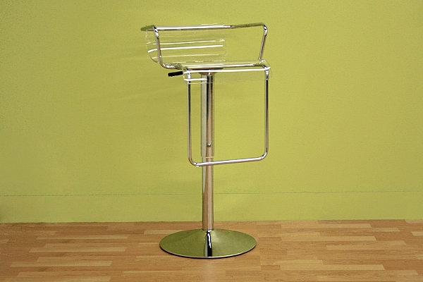 Модный стул из прозрачного акрила и нержавеющей стали
