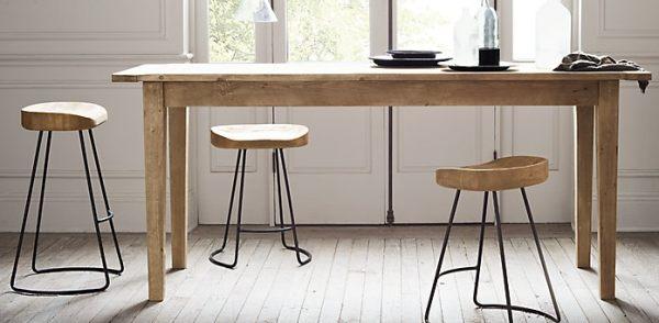 Барные стулья из дуба для современной кухни
