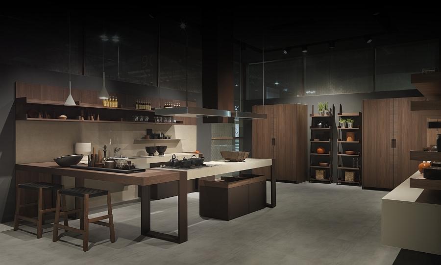 Минималистский дизайн кухни Arts & Crafts от Pedini