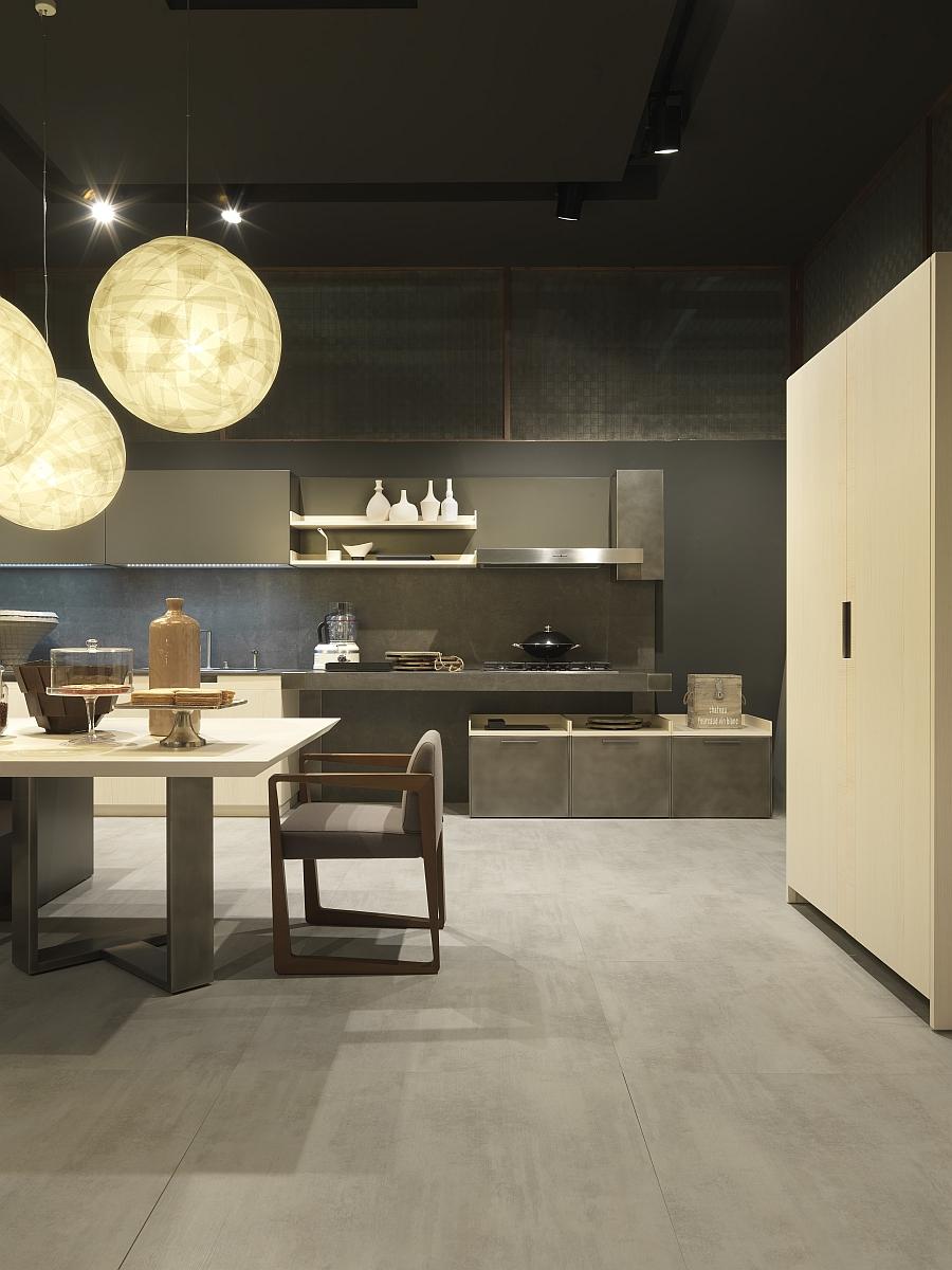 Минималистский дизайн интерьера кухни Urban Chic от Pedini