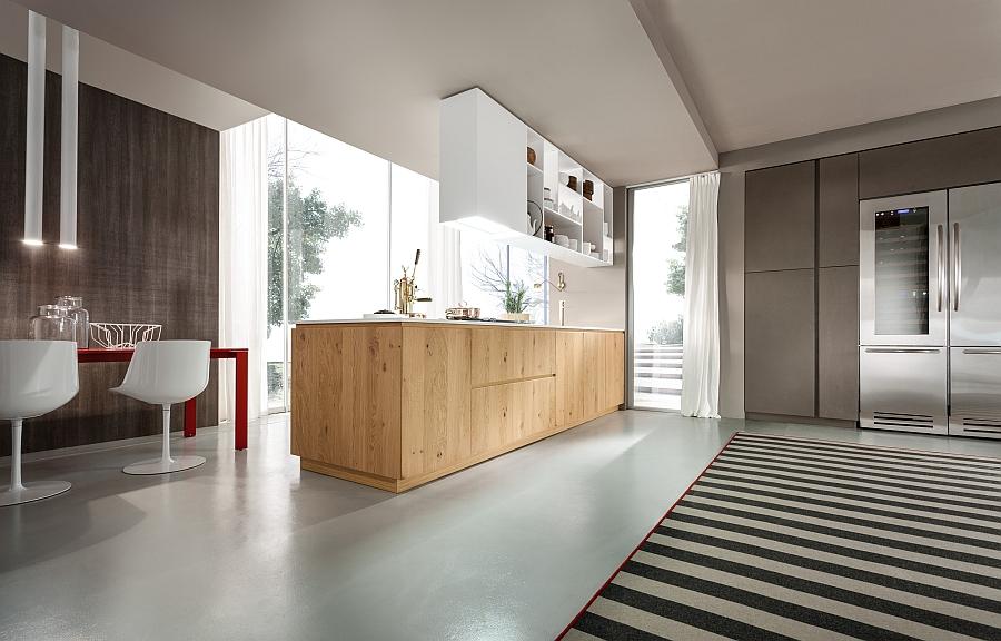 Роскошный дизайн интерьера кухни Rustic Charm от Pedini с элементами деревенского стиля