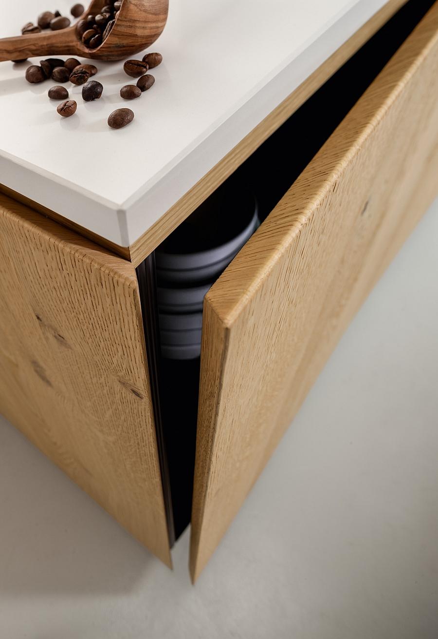 Детали интерьера: нижний ящик мебельного гарнитура Materika от Pedini