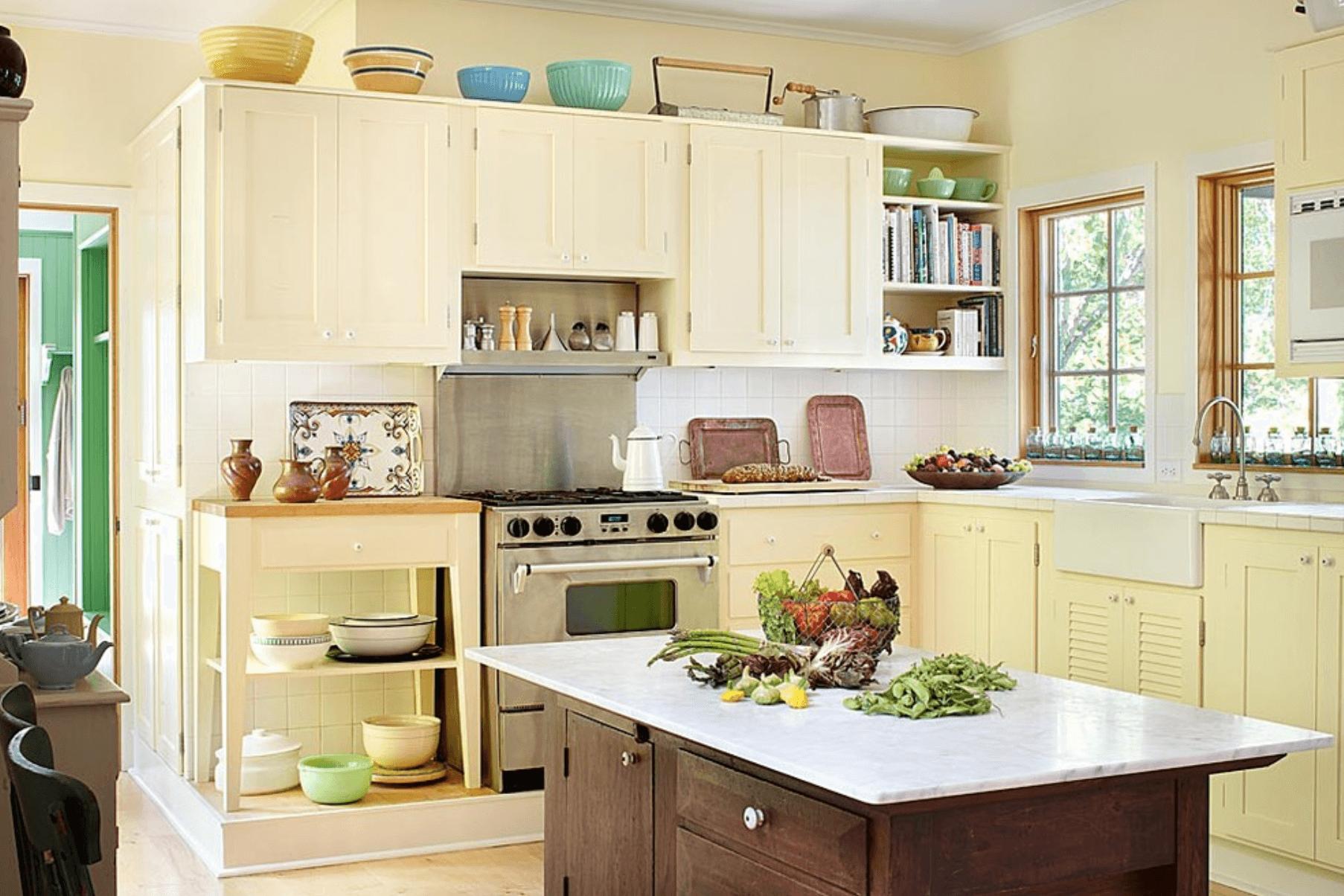 Дизайн кухни в оттенках желтого цвета. Фото 2