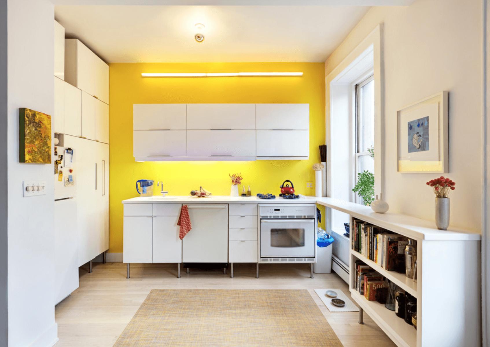 Дизайн кухни в оттенках желтого цвета. Фото 3