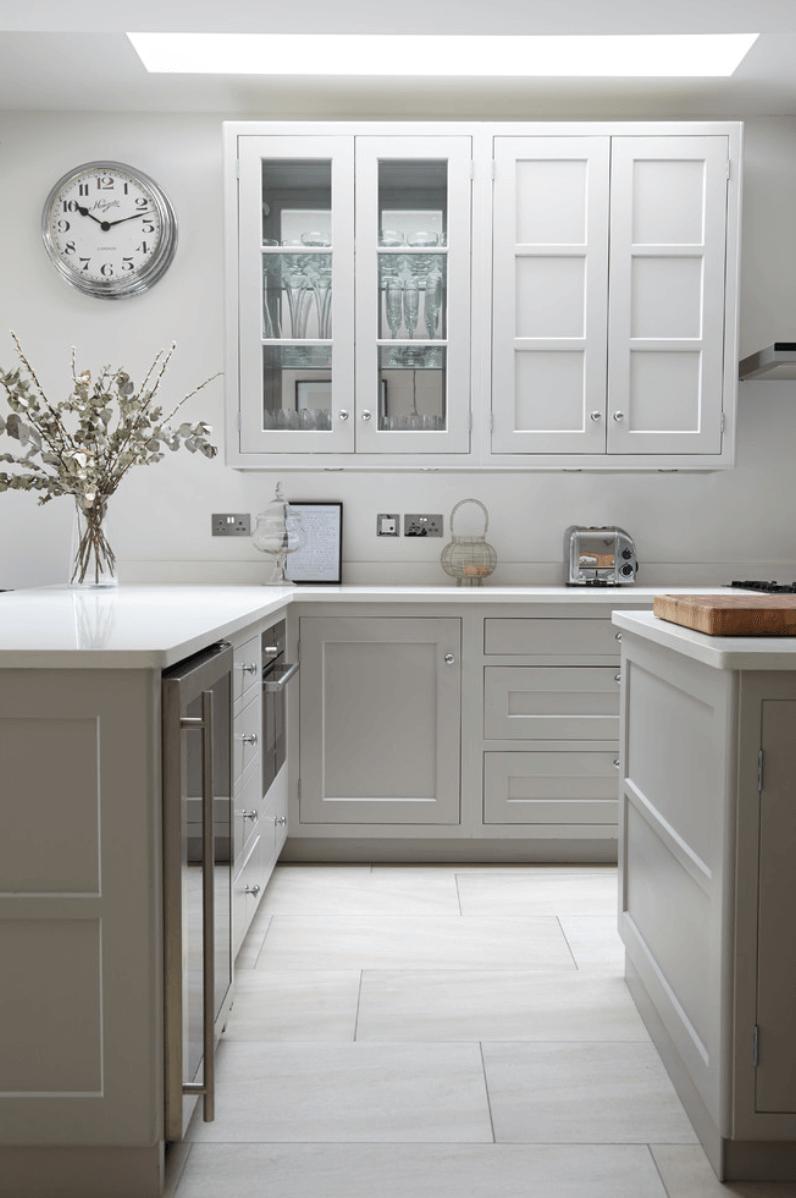 Дизайн кухни в оттенках серого цвета. Фото 5