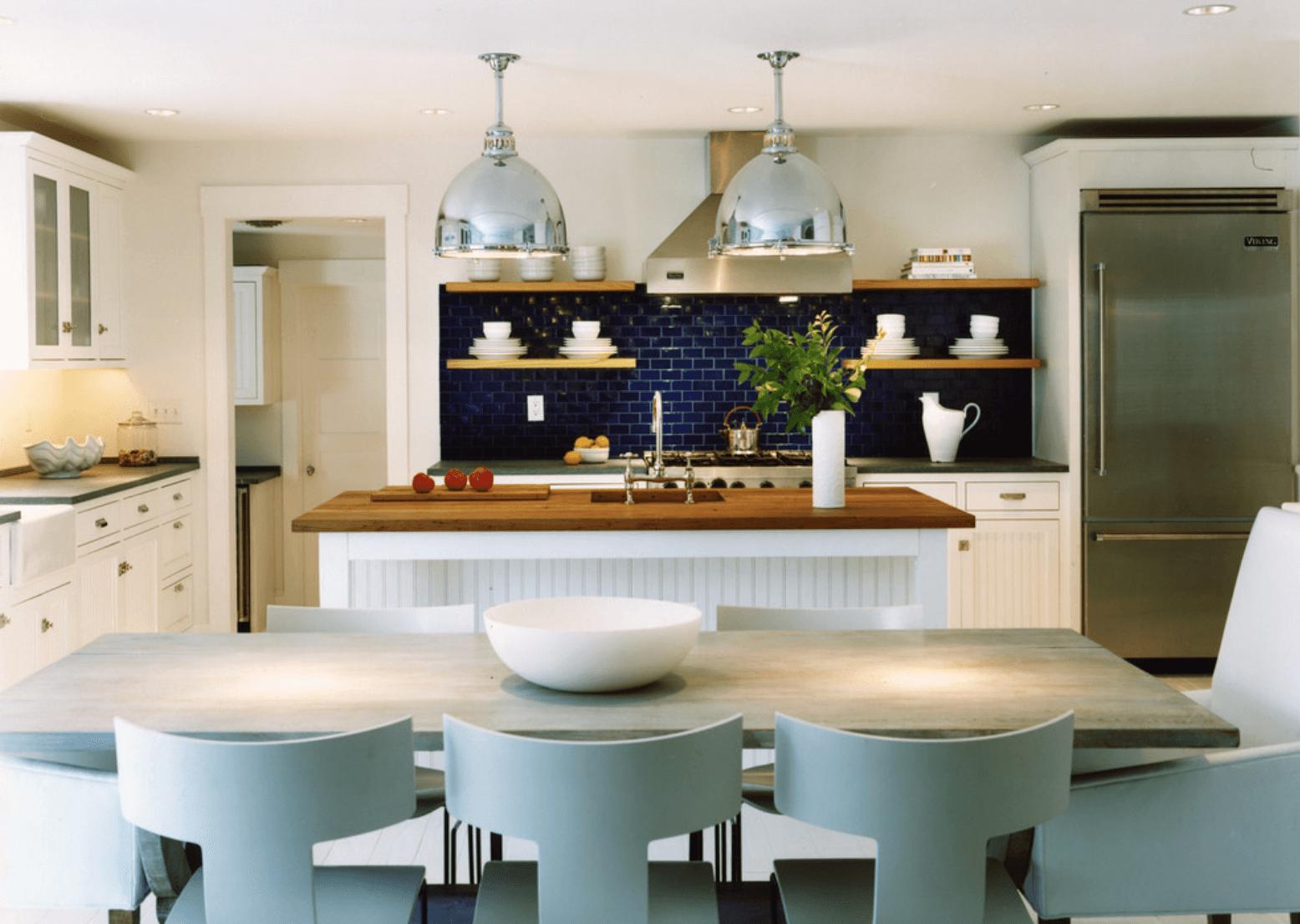 Дизайн кухни в оттенках серого цвета. Фото 8