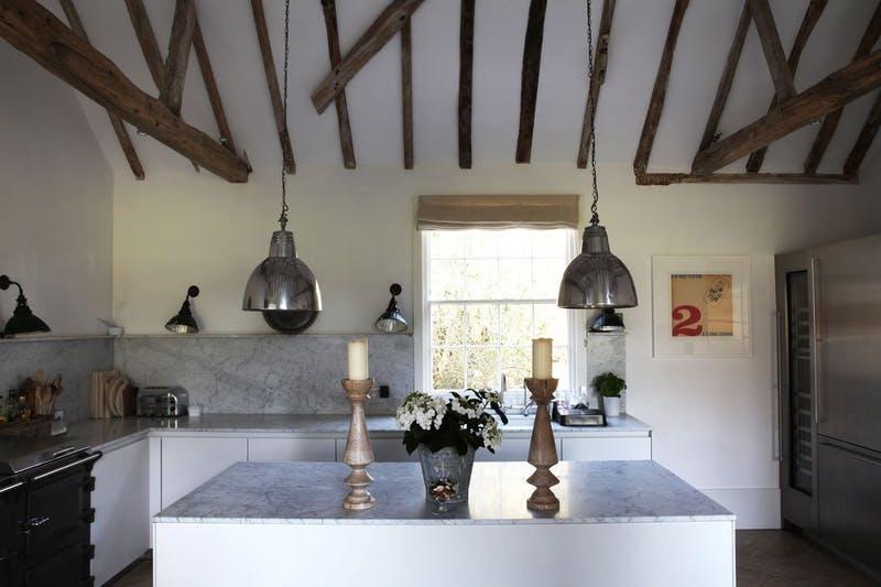 Мрамор в интерьере кухни. Фото 4