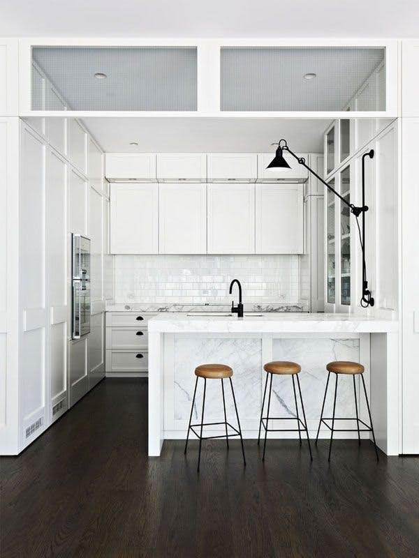 Мрамор в интерьере кухни. Фото 6