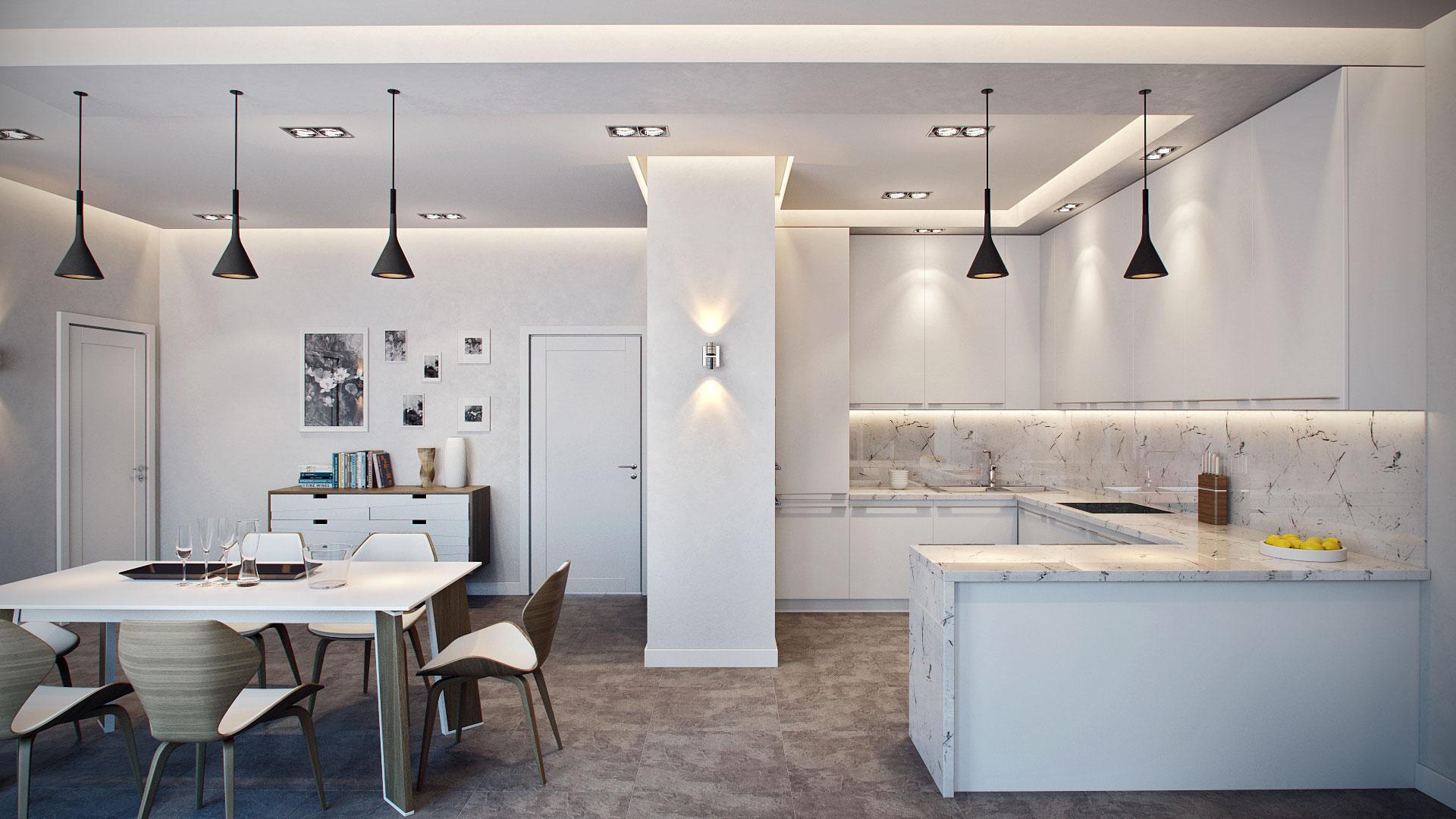 Мраморные столешницы для интерьера кухни - Фото 7