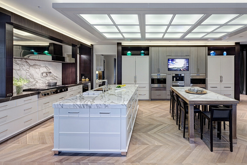 Мраморные столешницы для интерьера кухни - Фото 14