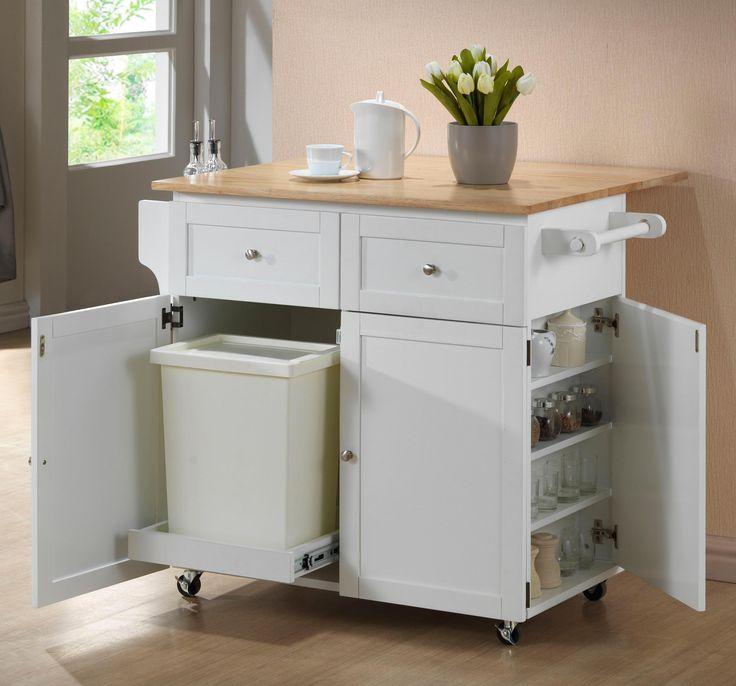 Кухонный шкаф с отсеком для мусорного ведра