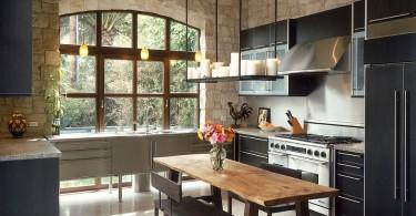 Современный взгляд на камень в интерьере кухни