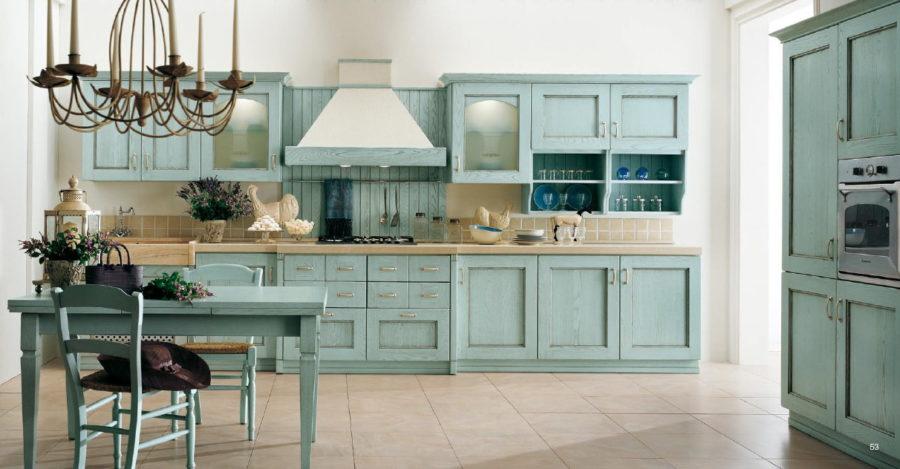 Кухонные шкафчики. Дизайн в различных цветах и стилях: сельский стиль