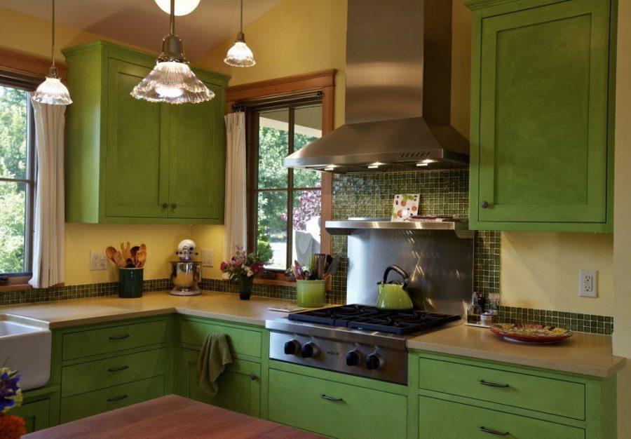 Кухонные шкафчики. Дизайн в различных цветах и стилях. Фото 7