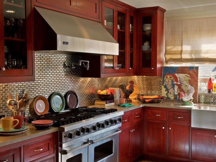 Кухонные шкафчики. Дизайн в различных цветах и стилях. Фото 14