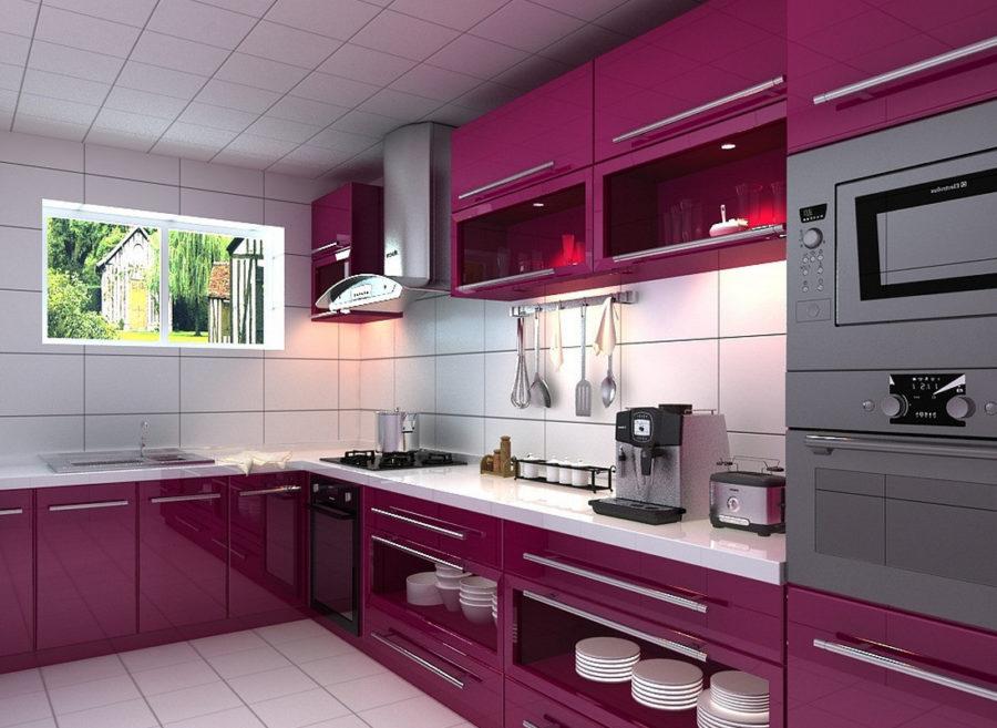Кухонные шкафчики. Дизайн в различных цветах и стилях. Фото 16