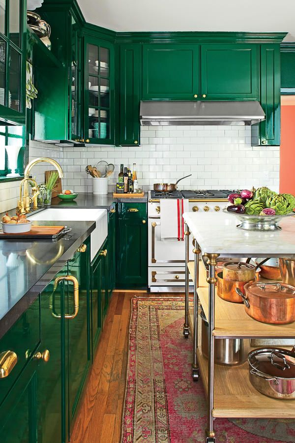 Кухонные шкафчики. Дизайн в различных цветах и стилях. Фото 19