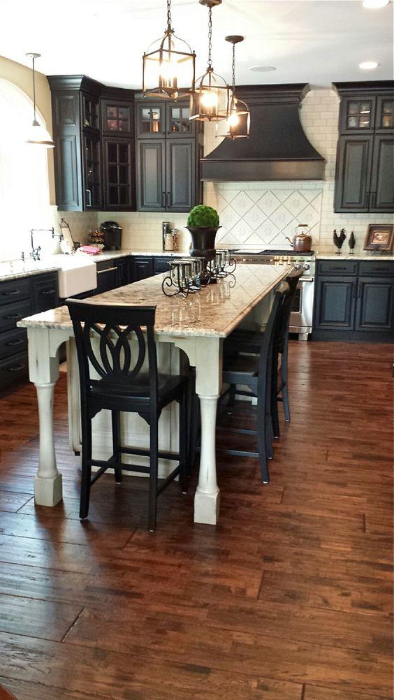 Кухонные шкафчики. Дизайн в различных цветах и стилях. Фото 22