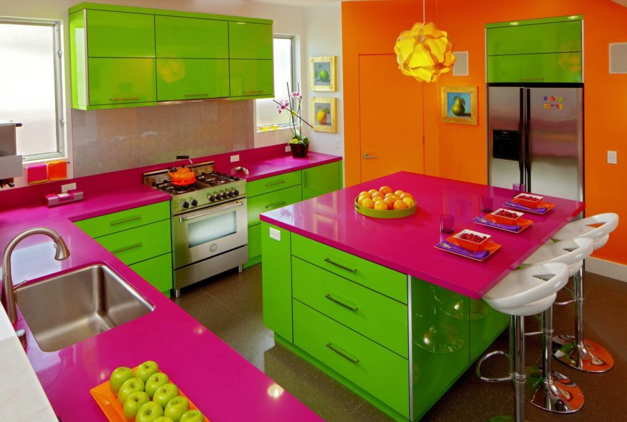Кухонные шкафчики. Дизайн в различных цветах и стилях