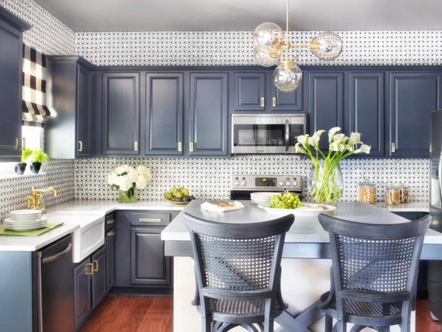 Кухонные шкафчики. Дизайн в различных цветах и стилях. Фото 28