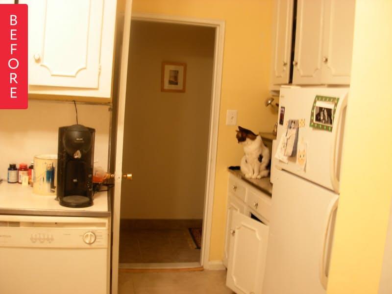 Новая кухня на основе старой, фото до обновления