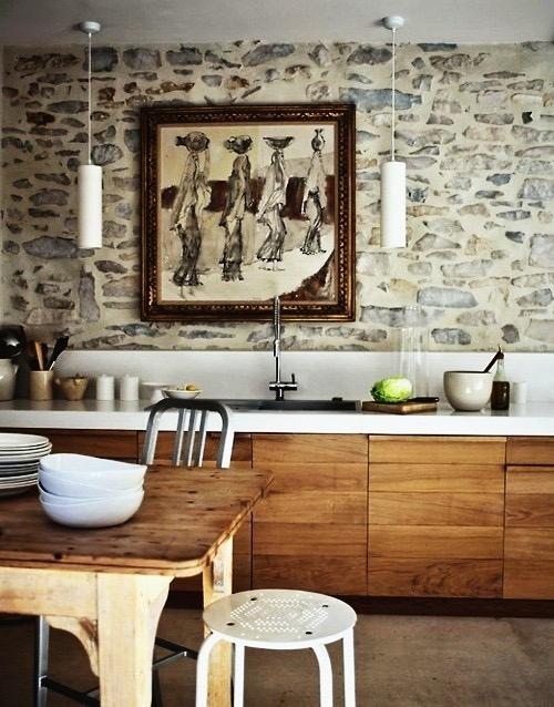 Кухни тренды: дуэт цвета и материала