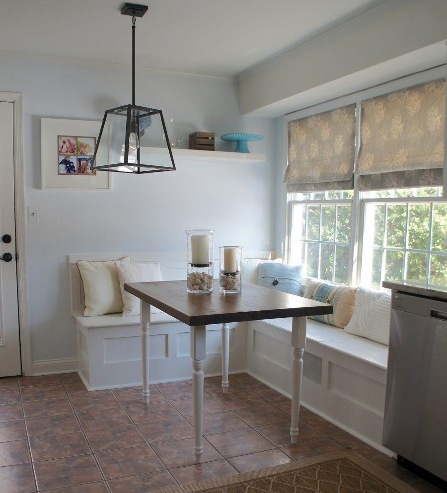 Обеденное место на кухне с эркером - уютный гарнитур. Фото 7