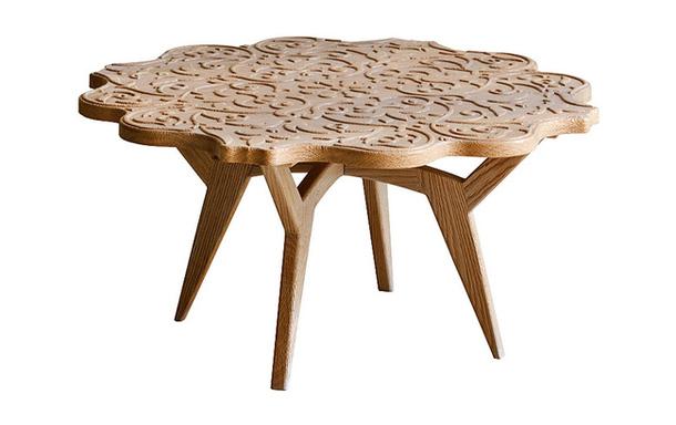Стол из натуральных материалов Halley
