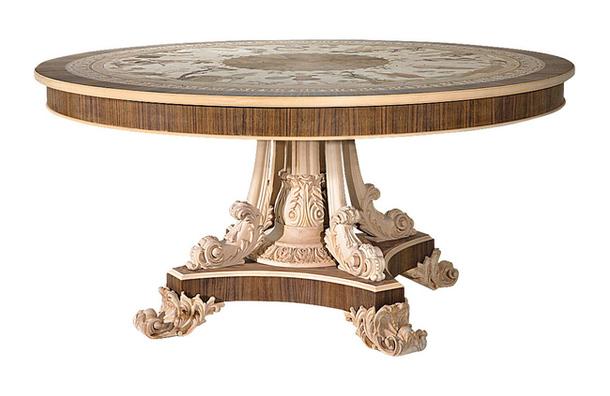 Круглый стол из натуральной древесины