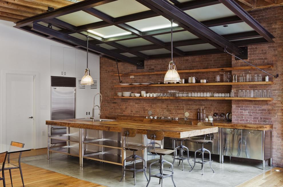 Оригинальный дизайн открытых полок в интерьере кухни от Jane Kim Design