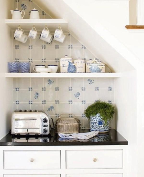 Стильный интерьер открытой кухни