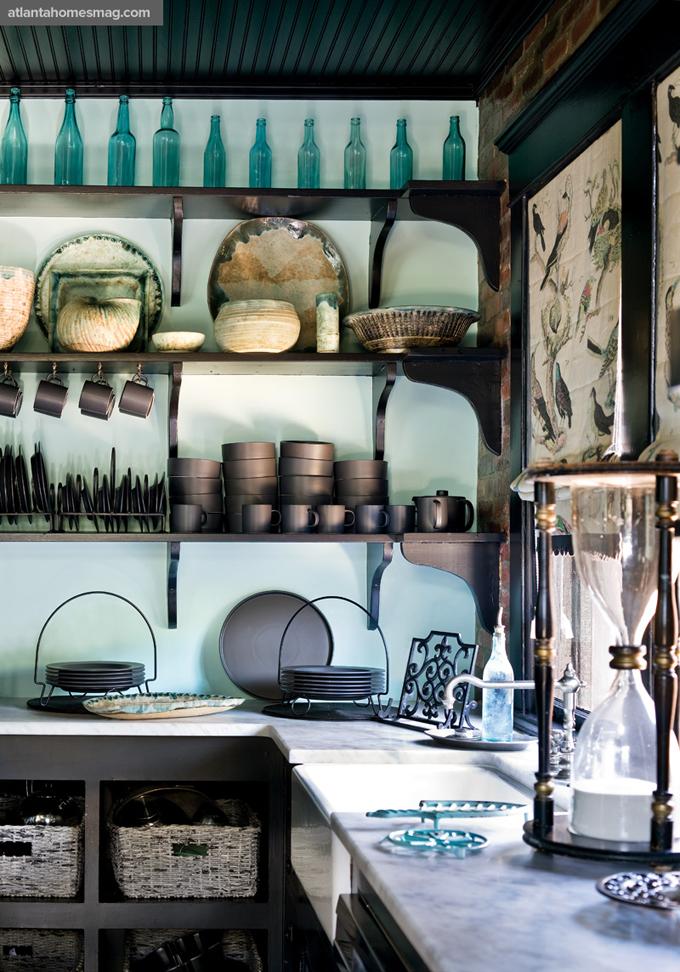 Интерьеры кухонь в зеленом цвете 25
