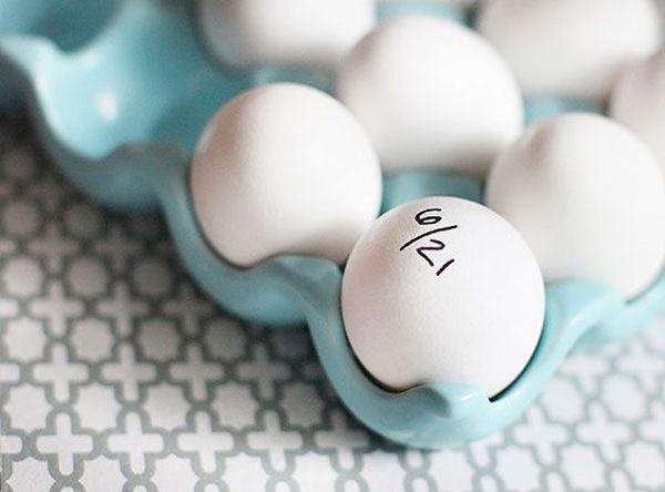 Яйца с надписью конечного срока употребления
